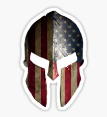 American Spartan Warrior Helmet Sticker