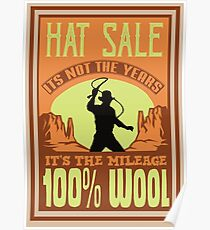 Indiana Jones - Hat Sale Poster