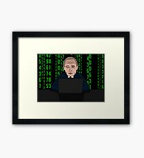 Putin Matrix Framed Print