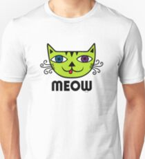 Meow Cat multi Unisex T-Shirt