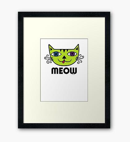 Meow Cat multi Framed Print