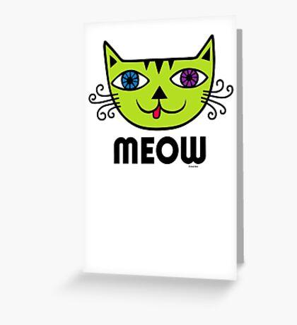 Meow Cat multi Greeting Card
