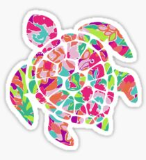 Lilly Pulitzer Turtle Sticker Sticker