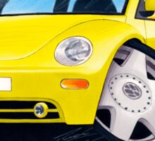 VW New Beetle Yellow Sticker