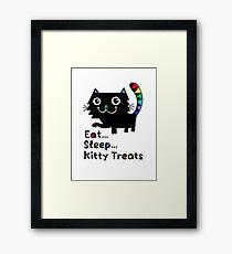 Eat, Sleep, Kitty Treats  Framed Print