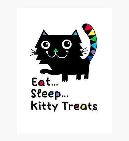 Eat, Sleep, Kitty Treats  Photographic Print