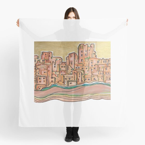 City behind Gold Scarf