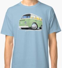 VW Bay Window Camper Van Light Green Classic T-Shirt
