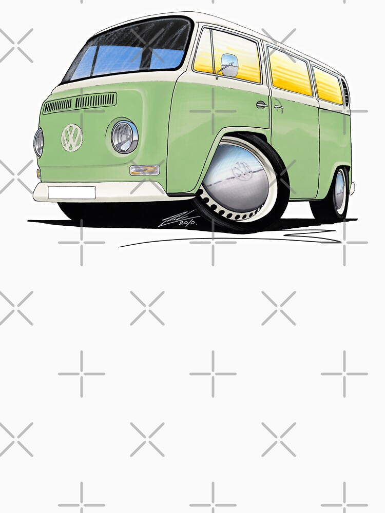 VW Bay Window Camper Van Light Green | Unisex T-Shirt