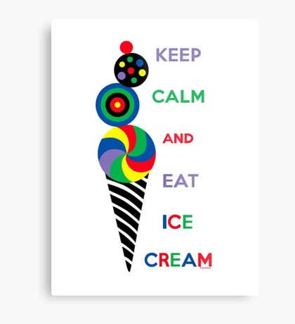 Keep Calm and Eat Ice Cream 2.2 Metal Print