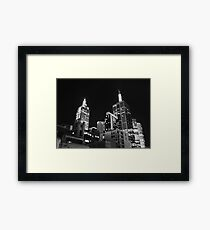 Melbourne @ night Framed Print