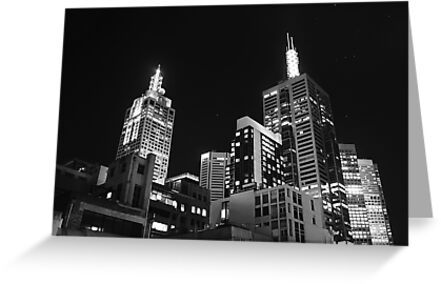Melbourne @ night by Jonathan Russell