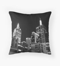 Melbourne @ night Throw Pillow