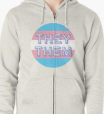 They / Them Zipped Hoodie