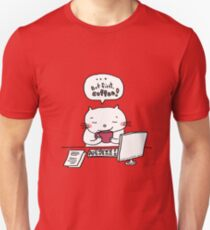 ... but first, coffee !! / Cat doodle T-Shirt