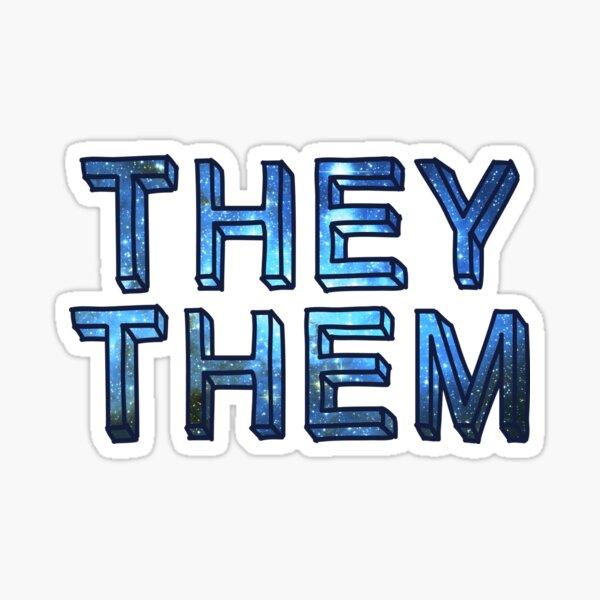 They / Them - Space Sticker