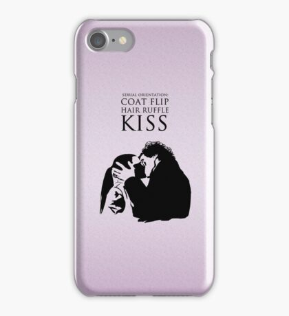 Sherlock and Molly Kiss iPhone Case/Skin