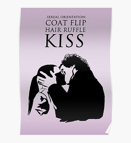 Sherlock and Molly Kiss Poster