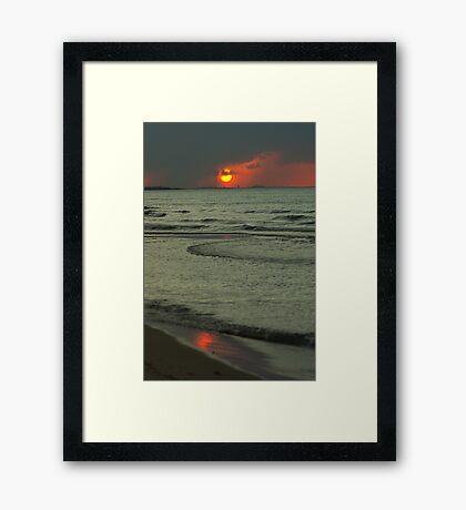 Rain Shrouded Sunset. Framed Print