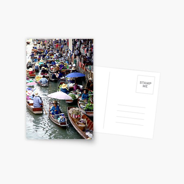 Floating Market Postcard