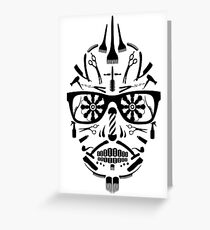 barbershop sugar skull Greeting Card