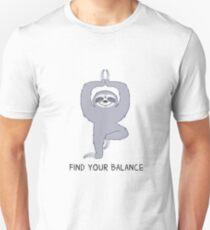Happy Yogi Sloth - Find your balance Unisex T-Shirt