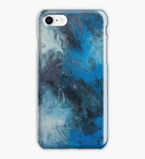 Bold Abstract - Blue iPhone Case/Skin