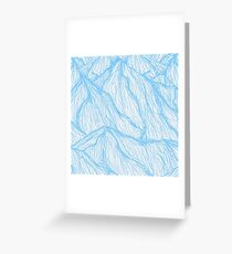 Blue Line Mountains Greeting Card