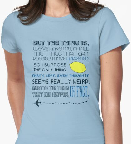 Martin Crieff Quote Womens Fitted T-Shirt