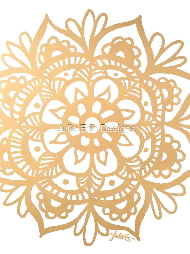 Gold Mandala by julieerindesign
