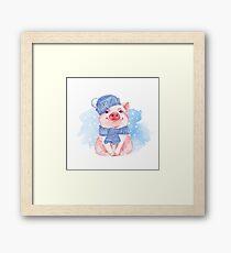 Piglet. Winter Framed Print