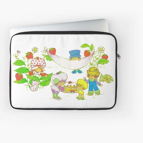 """Picnic With Strawberry & Friends"" Vintage, Card, Inspired, Retro, Strawberry, Shortcake, SSC, Apple Dumplin, Huckleberry Pie, Raspberry Tart, Blueberry Muffin, Custard, Pupcake, Strawberries    Laptop Sleeve"