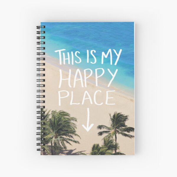 Happy Place - Hawaii Spiral Notebook