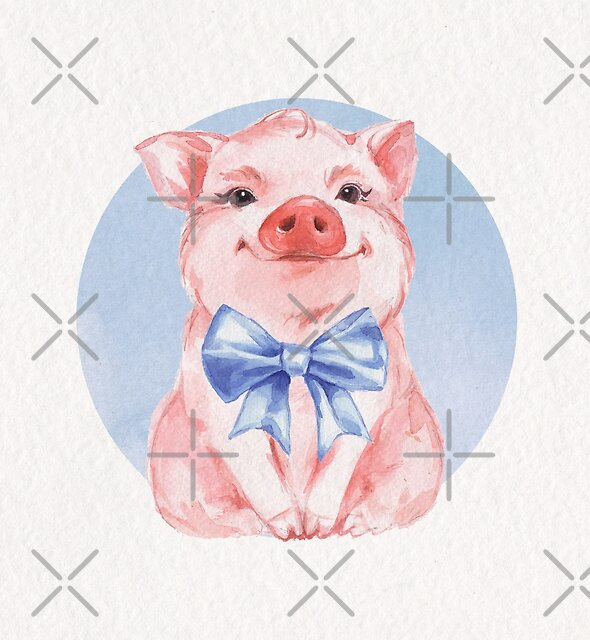 Happy Pig by Gribanessa