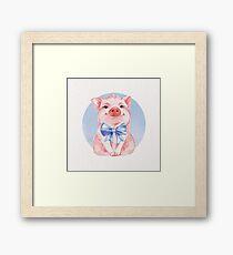 Happy Pig Framed Print