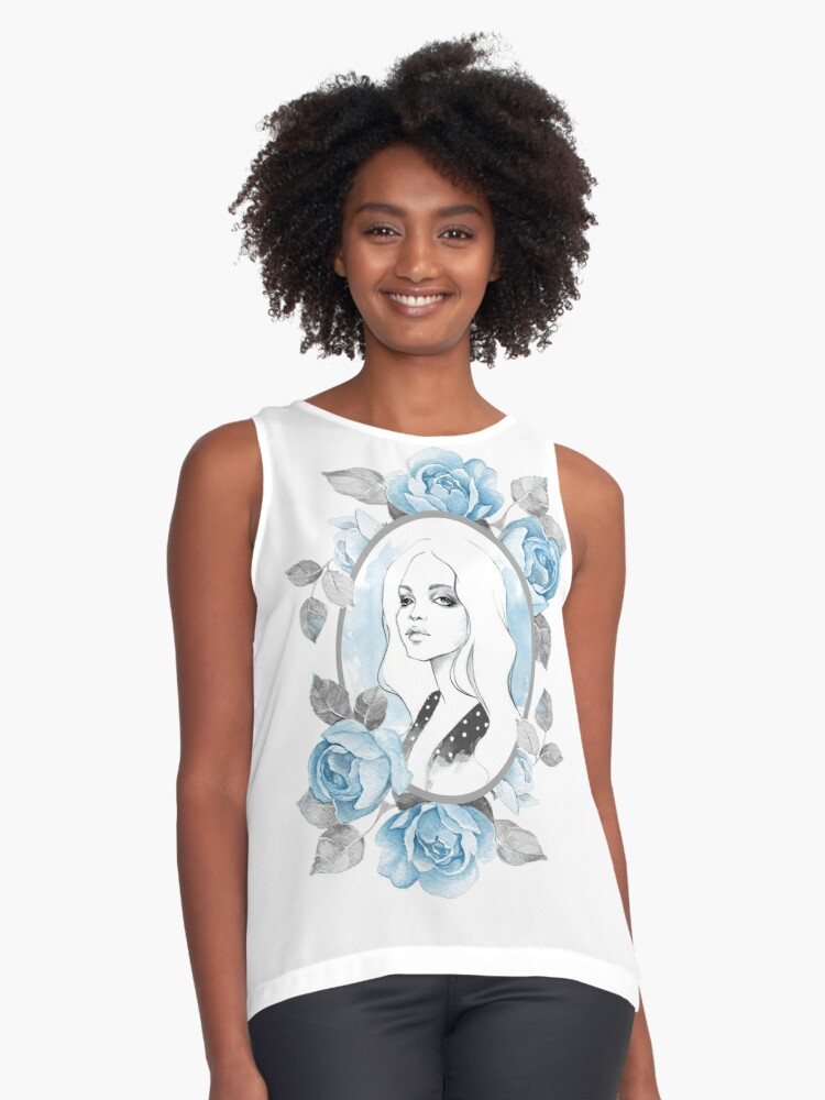 """""""My girl"""" Contrast Tank Front"""