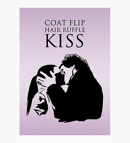 Sherlock and Molly Kiss II Photographic Print