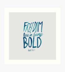 Robert Frost: Freedom Art Print