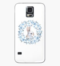 Rabbit and floral wreath Case/Skin for Samsung Galaxy