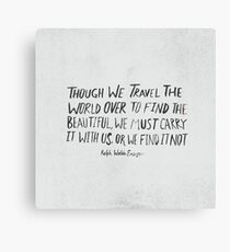 Ralph Waldo Emerson: Beautiful Canvas Print