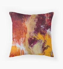 Bold Abstract - Citrus Throw Pillow