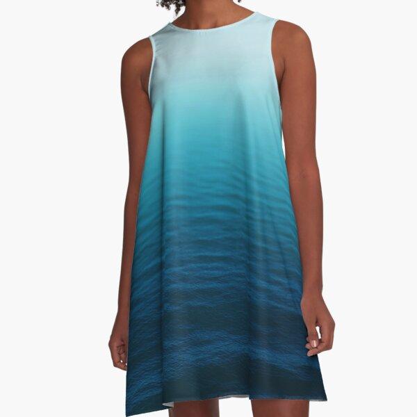 Deep Blue A-Line Dress