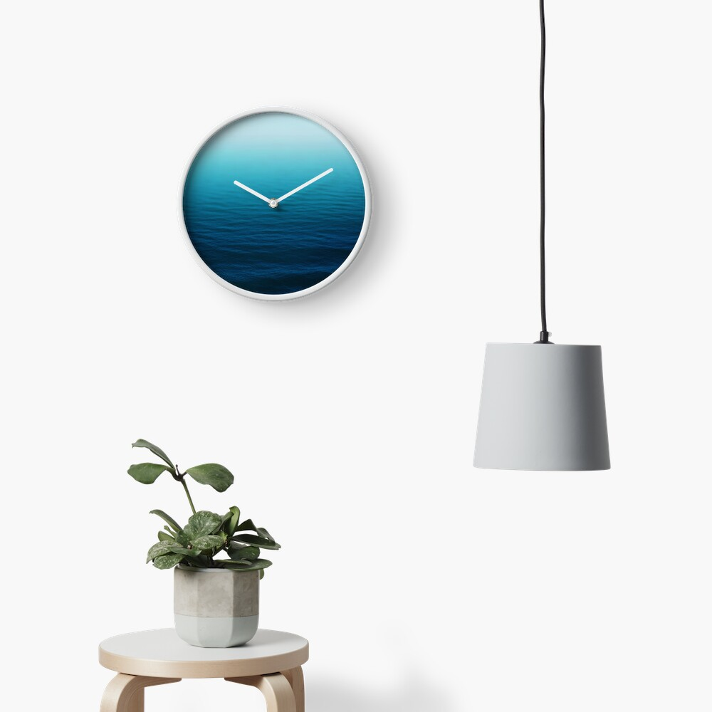 Deep Blue Clock