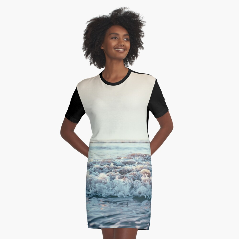 Pacific Ocean Graphic T-Shirt Dress