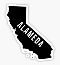 Alameda, California State Silhouette Sticker