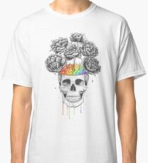 Skull with rainbow brains Classic T-Shirt