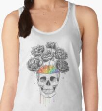 Skull with rainbow brains Women's Tank Top
