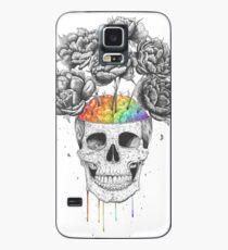 Skull with rainbow brains Case/Skin for Samsung Galaxy
