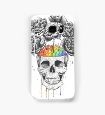 Skull with rainbow brains Samsung Galaxy Case/Skin