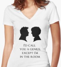 I'd Call You A Genius Women's Fitted V-Neck T-Shirt